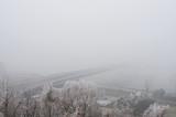 Winter mist in Bratislava, Slovakia