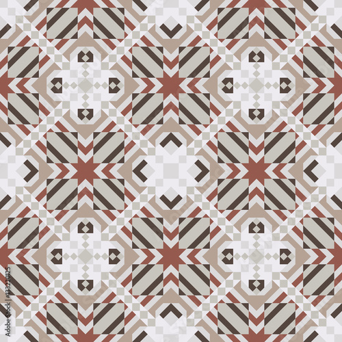 Mosaic seamless pattern. Vector illustration. - 133220125