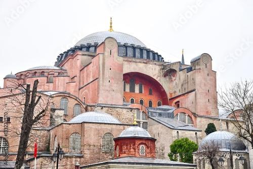 Poster Exterior of Hagia Sophia in Istanbul, Turkey