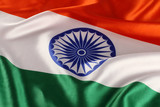 Closeup of National Indian Flag - Tricolor