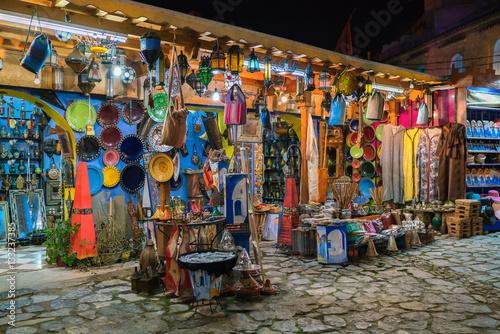 Deurstickers Marokko morocco market