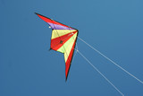 Flying a colorful kite