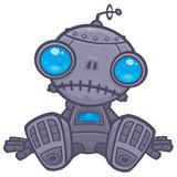 Sad Robot Wall Sticker