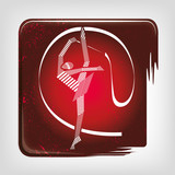 Gymnastics rhythmic stripy icon