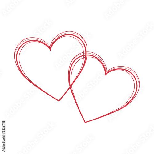 heart love card decoration vector illustration design