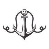 anchor symbol isolated icon vector illustration design