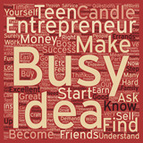 Teen Entrepreneurs text background wordcloud concept