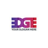 Initial Letter EDGE Logo Design