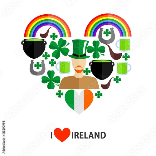 Poster i love irish