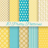 Fototapety Retro different vector seamless patterns