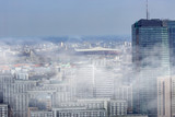 Fototapety Smog over the Warsaw city