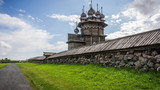 Unesco-listed assembly of 18th-century wooden architecture in Kizhi Pogost. Karelia