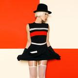 Blonde Retro Style Cabaret vintage clothing. Minimal Fashion. St