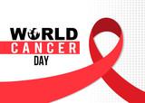 World Cancer day ribbon design
