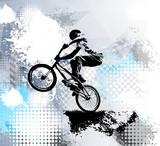 Biker, sport illustration, vector