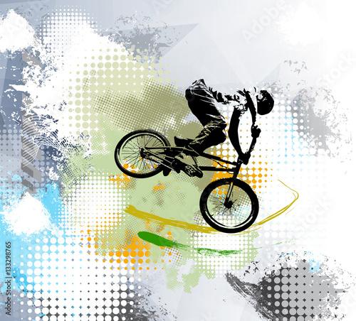 Biker, sport illustration, vector - 133298765
