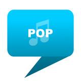pop music blue bubble icon