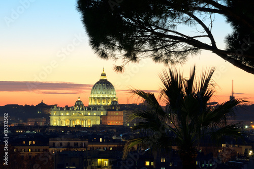 Poster Roma Basilica di San Pietro Vaticano