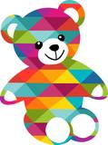 Un ours abstrait et très coloré