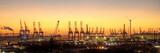 Hafensilhouette Hamburg am Abend - 133313505