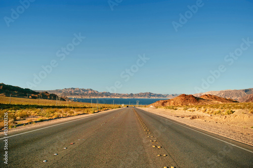 Poster Road from Lake Mead near Hoover Dam
