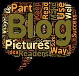 Use Pictures For Best Effect With Your Blogs text background wordcloud concept