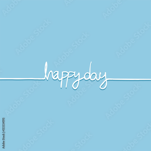 Canvas Positive Typography Happy day message