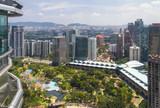 Beautiful city view at the center of Kuala Lumpur