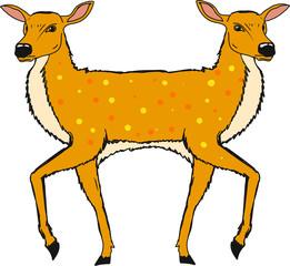 Two headed deer vector illustration clip-art image file © anton_novik