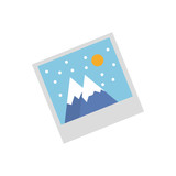 Picture of landscape icon vector illustration graphic design