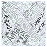 What is the American Medical Association Word Cloud Concept