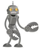 evil angry giant robot