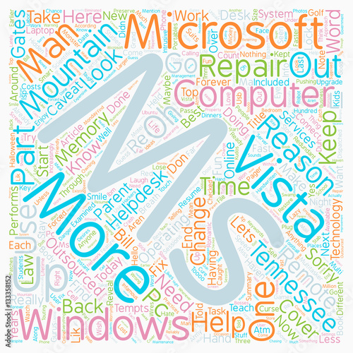 Why Change To Windows Vista Part 2 of 4 text background wordcloud concept