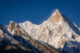 Masherbrum mountain peak in a morning, K2 trek, Pakistan - 133361959
