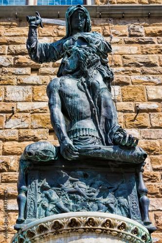 Poster Florenz, Judith enthauptet Holofernes