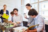 Start-Up Team bei der Strategie Planung