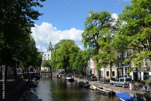 Poster Gracht in Amsterdam