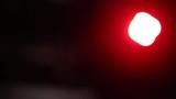 flashing lights on black background