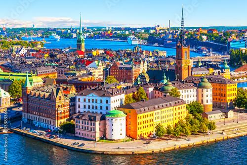 Papiers peints Stockholm Aerial panorama of Stockholm, Sweden
