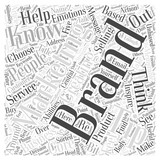 Branding do you know who you are Word Cloud Concept