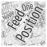 Breast Feeding And Positioning Word Cloud Concept