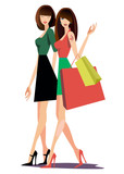 girl gestures bags fashion vector tattoo bag