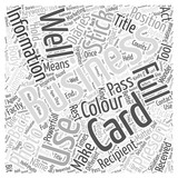 Business Cards Does Your Business Information Stick Word Cloud Concept