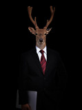 business man with animal head