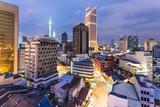 Night view of Kuala Lumpur skyline in Malaysia