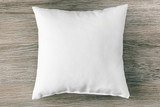 Fototapety Blank soft pillow on wooden background