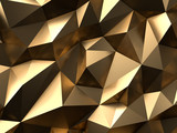 Gold Abstract Background 3D Rendering - 133404923