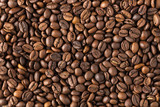 Fototapety texture of roasted coffee in beans