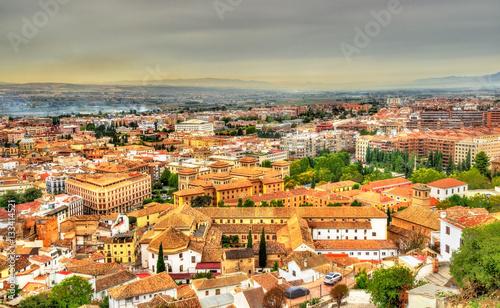 Staande foto Athene Panorama of Granada in Spain