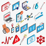 illustration of info graphic hospital icons set concept in isometric 3d graphic